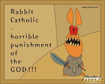 Catholic rabbit