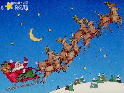 Santa keliauja pas tave