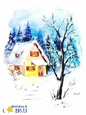 Žiemiškas piešinys